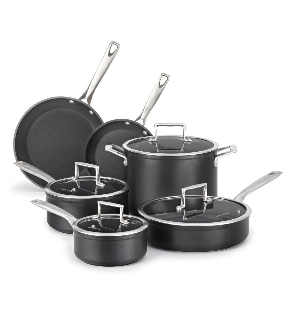 KitchenAid 10-Piece Professional Hard Anodized Pot Set - Master ...
