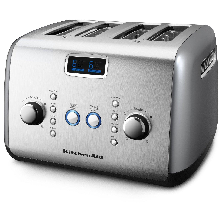 kitchenaid 4 slice toaster extra wide master. Black Bedroom Furniture Sets. Home Design Ideas