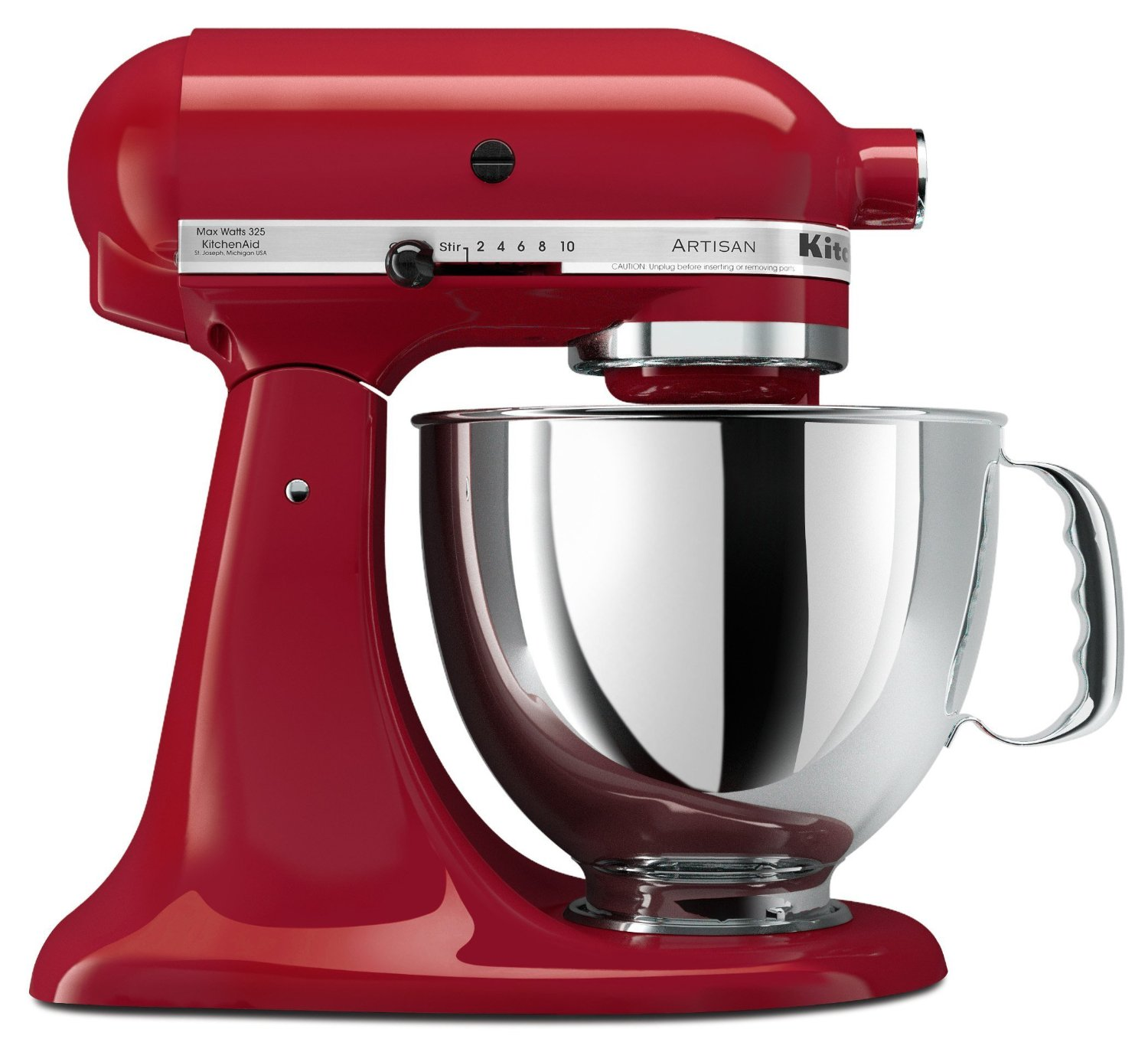 kitchenaid 4 1 2 quot red stainless steel kitchenaid empire red 5 quart artisan series stand mixer master technicians ltd 2141